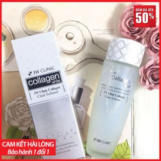 [ HÀNG XỊN ] Nước Hoa Hồng 3W Clinic Collagen - 150ML Bảo Vệ Da Chống Tia UVA Và UVB Giúp Da Khỏe Mạnh, Căng Mướt Và Trắng Sáng. thumbnail