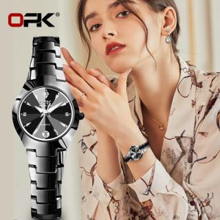Đồng Hồ Nữ OPK 2021 thời trang mới thép vonfram chống thấm nước giá rẻ hiển thị lịch đồng hồ thạch anh thông thường thumbnail