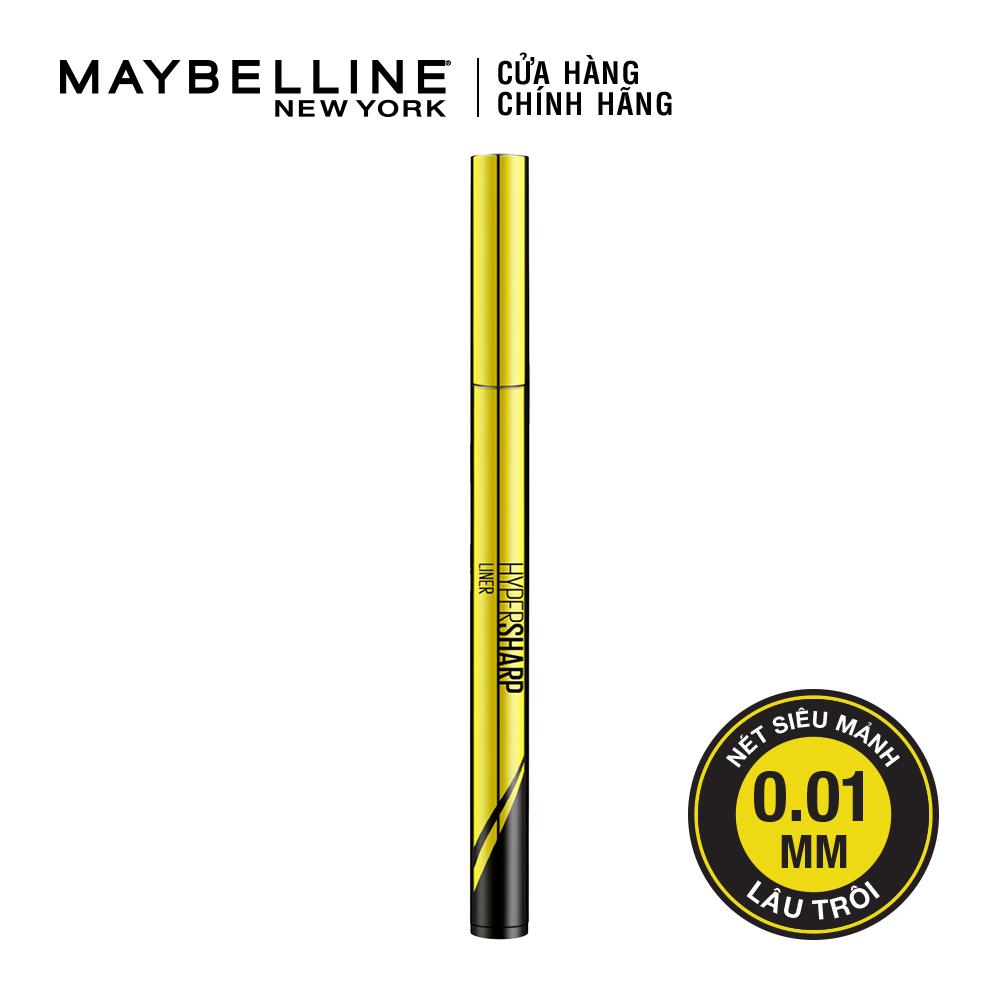 Bút kẻ mắt nước siêu sắc mảnh không lem không trôi Maybelline New York Hyper Sharp Liner Đen 0.5g