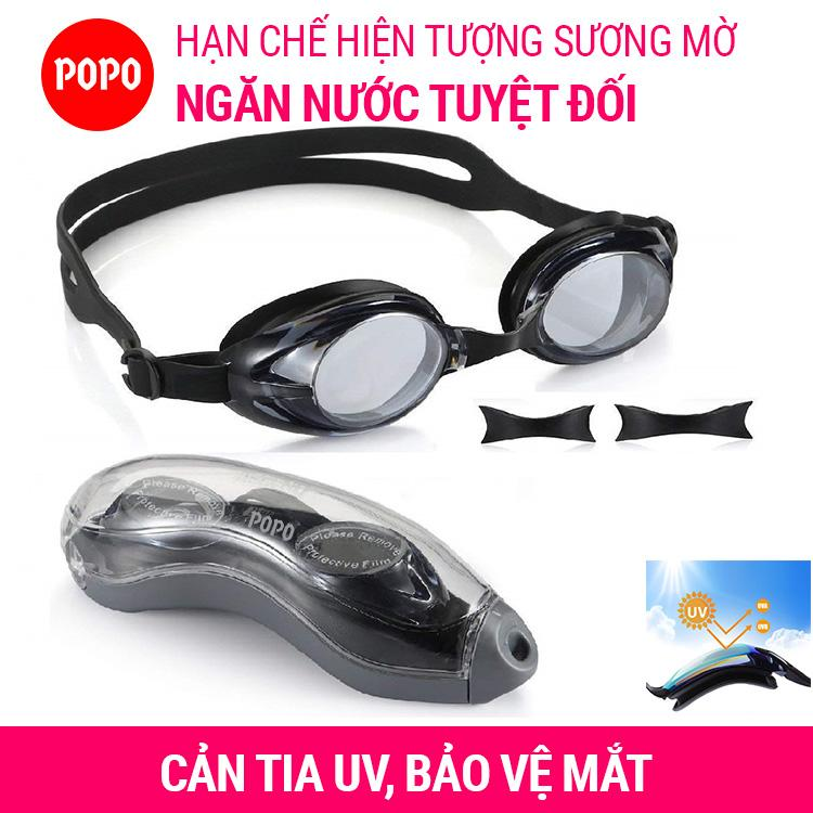 Kính bơi thiết kế hiện đại chống tia UV chống lóa 1153 mắt kính trong suốt kiểu dáng thời trang cao cấp POPO Collection