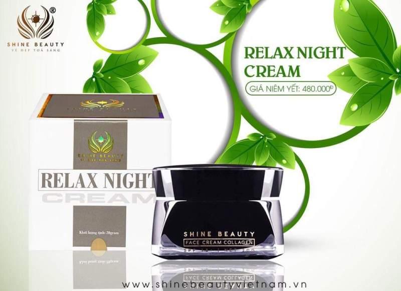 KEM ĐÊM RELAX NIGHT CREAM SHINE BEAUTY nhập khẩu