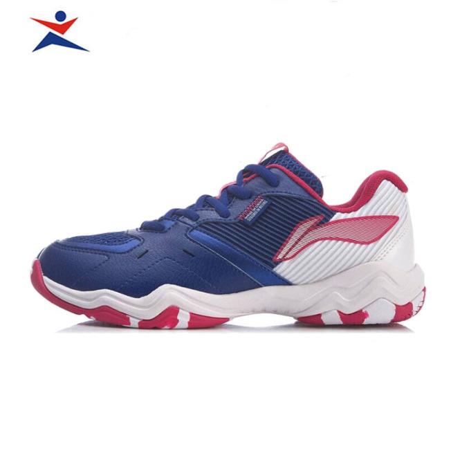 Giày Cầu Lông Lining Cho Nữ AYTR008-2 màu xanh chống trơn trượt, chống lật cổ chân-giày bóng chuyền-giày thể thao giá rẻ