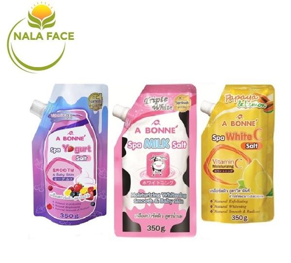 LẺ 1 Muối tắm sữa bò tẩy tế bào chết A Bonne Spa Milk Salt 350gr - Chuẩn Thái