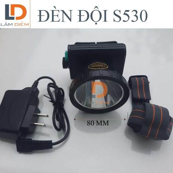 ĐÈN ĐỘI ĐẦU PIN SẠC CÔNG SUẤT LỚN HIỂN THỊ PHẦN TRĂM PIN S530