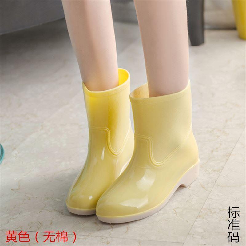 Perempuan sepatu boots hujan wanita musim semi dan musim gugur Korea Selatan modis jelly dalam Pendek