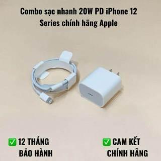 Bộ Sạc Nhanh Iphone 20W Type-C To Lightning, Sạc Iphone 8,X,XSM,11,12 promax Chính Hãng thumbnail