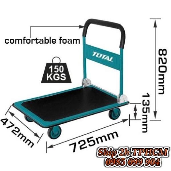 Xe Đẩy Hàng tải 150kg 4 Bánh kéo hàng chuẩn GS TOTAL THTHP11502 Gấp Gọn - Xe Đẩy Hàng Tay Cầm - Kéo Hàng Gấp Gọn - chuyên cung cấp các loại xe đẩy INGCO TOTAL