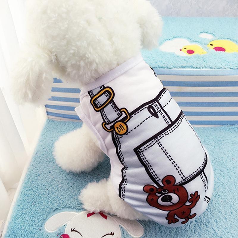 Áo Thun Cotton Mùa Hè Cho Thú Cưng Hình Yếm - TTTC2, phụ kiện siêu đáng yêu cho thú cưng tại Bull_store