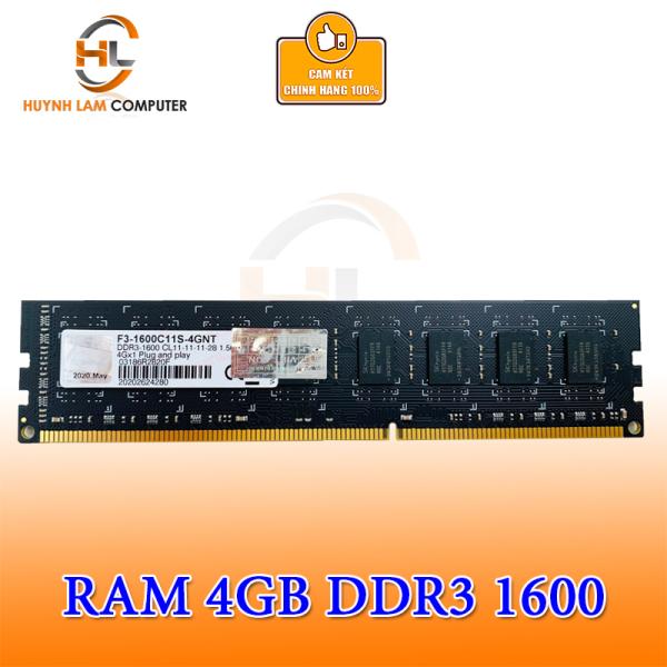 Bảng giá Ram 4gb g.skill ddr3 1600 viết sơn phân phối, chuyên cung cấp hàng chính hãng Huỳnh Lâm Computer, đóng gói theo công nghệ ép chết khi xuất xưởng Phong Vũ