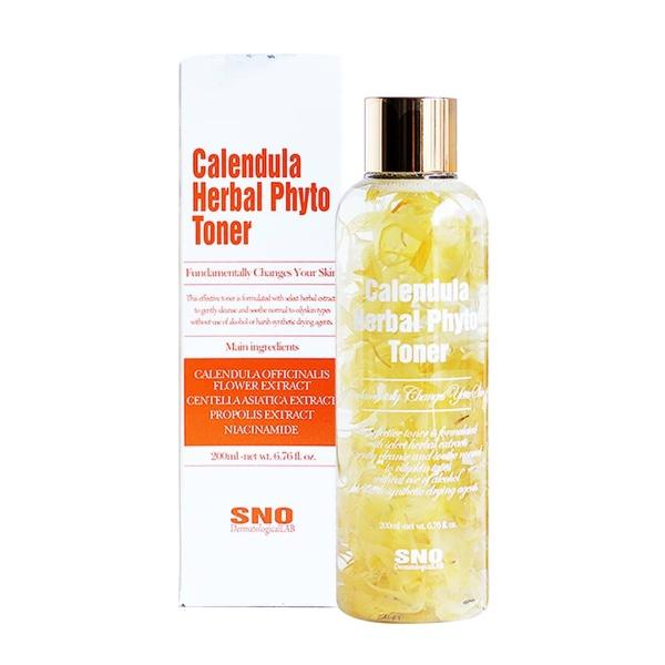 HÀNG CHÍNH HÃNG - nước hoa hồng hoa cúc SNO Calendula Herbal Phyto Toner 200ml
