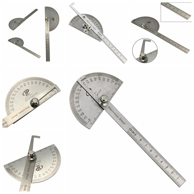 Mua PINGZ 100mm Stainless 0-180 Degree Steel Protractor Angle Finder Arm Rule Measure Tool