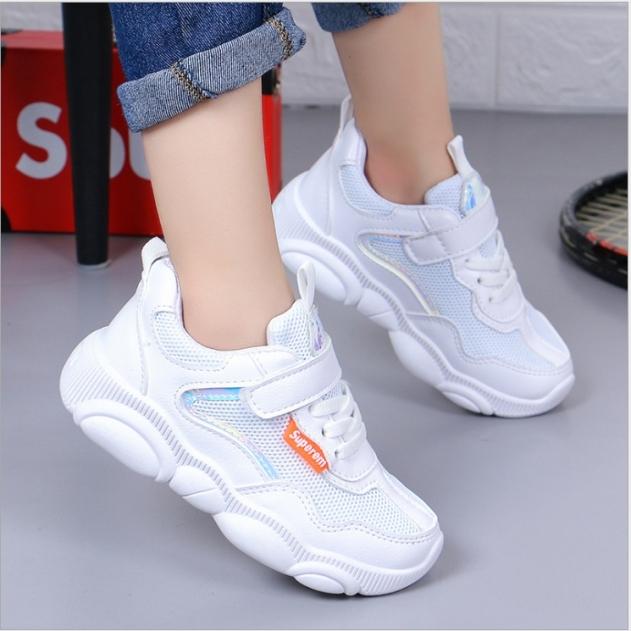 Giày thể thao bé gái dạng lưới, mẫu mới cho bé từ 3 đến 14 tuổi TT23 giá rẻ