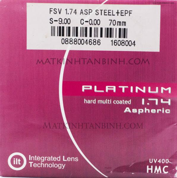 Giá bán Tròng kính cận có độ siêu mỏng, chính hãng ILT của Singapore ( chiết suất 1.74 )