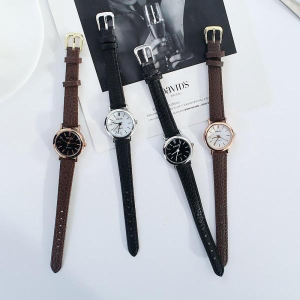 Nơi bán (Tặng kèm hộp và pin) Đồng hồ thời trang nữ Rate Dây da mặt tròn