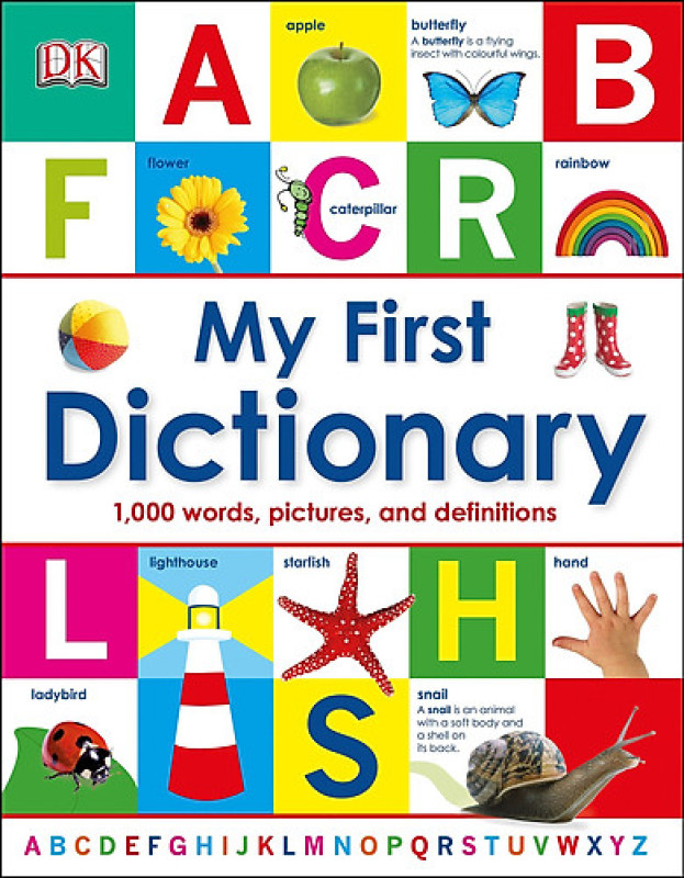 Sách My First Dictionary- Bản Gốc, Giấy In Chất Lượng Cao- English Book For Kids