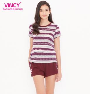 Bộ short thun Vincy phối quần trơn và áo in họa tiết BST060S01 thumbnail
