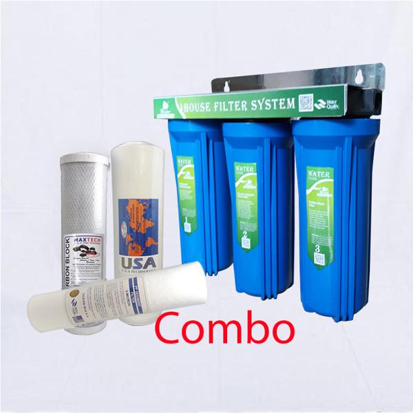Bảng giá COMBO bộ lọc thô 3 cấp ly 10 inch , bộ ba lõi lọc nước số 1, 2, 3 Điện máy Pico