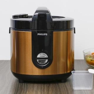 Nồi cơm điện Philips 2 lít HD3132 68 Vàng chính hãng -hàng trưng bày,Lòng nồi hợp kim nhôm tráng lớp men gốm ProCeramic + chống dính bền tốt. Công nghệ 3D nấu cơm chín đều, chín ngon, giữ ấm lâu. thumbnail