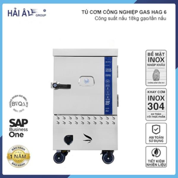 Tủ Cơm Công Nghiệp Hải Âu HAG 6 – Gas 6 Khay