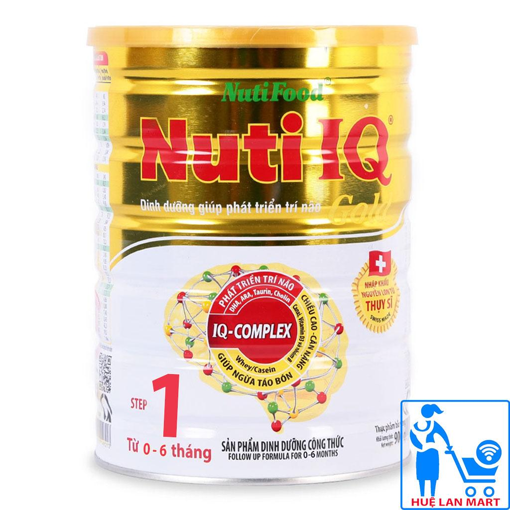 Sữa Bột Nutifood Nuti IQ Gold Step 1 - Hộp 900g (Cho trẻ 0-6 tháng tuổi)