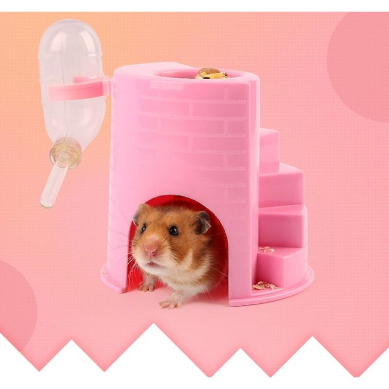 Nhà Ngủ 4 In 1 Kèm Bình Nước Cho Hamster