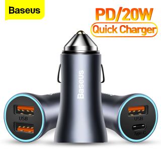 Bộ sạc ô tô Baseus PD 20W + 20W Sạc nhanh USB 4.0 QC 4.0 3.0 USBC Loại C Bộ sạc nhanh PD cho iPhone 12 Pro Max 12 mini Xiaomi Huawei Samsung thumbnail