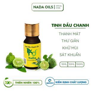 Tinh dầu Chanh Sần nguyên chất Nada 10ml, 50ml, 100ml Kiểm định QT3 Thanh mát, giúp thư giãn, khử mùi, sát khuẩn thumbnail