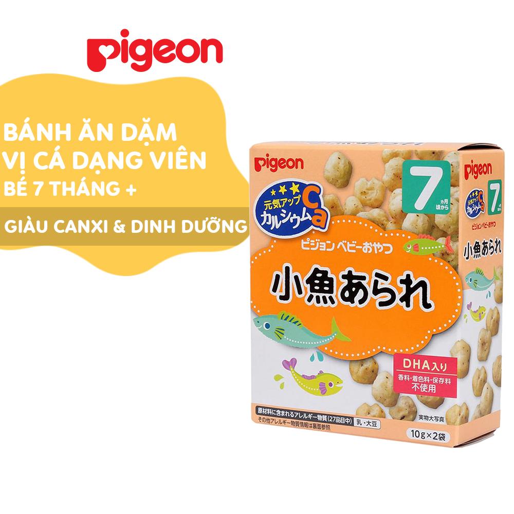 Bánh ăn dặm cho bé Pigeon vị Cá dạng viên