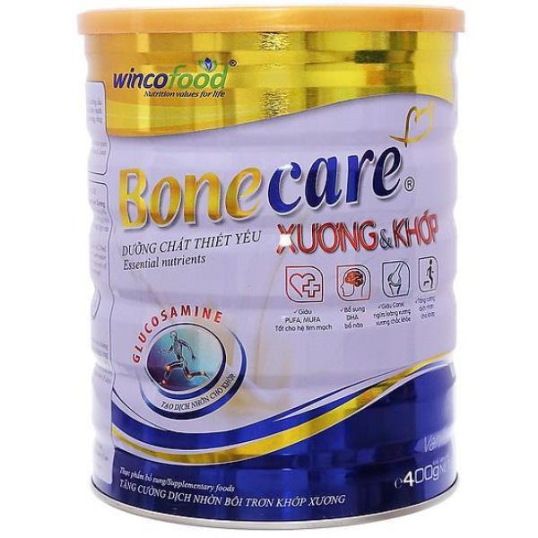 Sữa bột Bonecare dưỡng chất cho xương và khớp 400g dành cho người lớn phòng ngừa đau xương khớp, viêm khớp, đặc biệt là người bệnh xương và khớp.