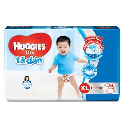 Tã dán Huggies size XXL 30 miếng (trẻ trên 14 kg)