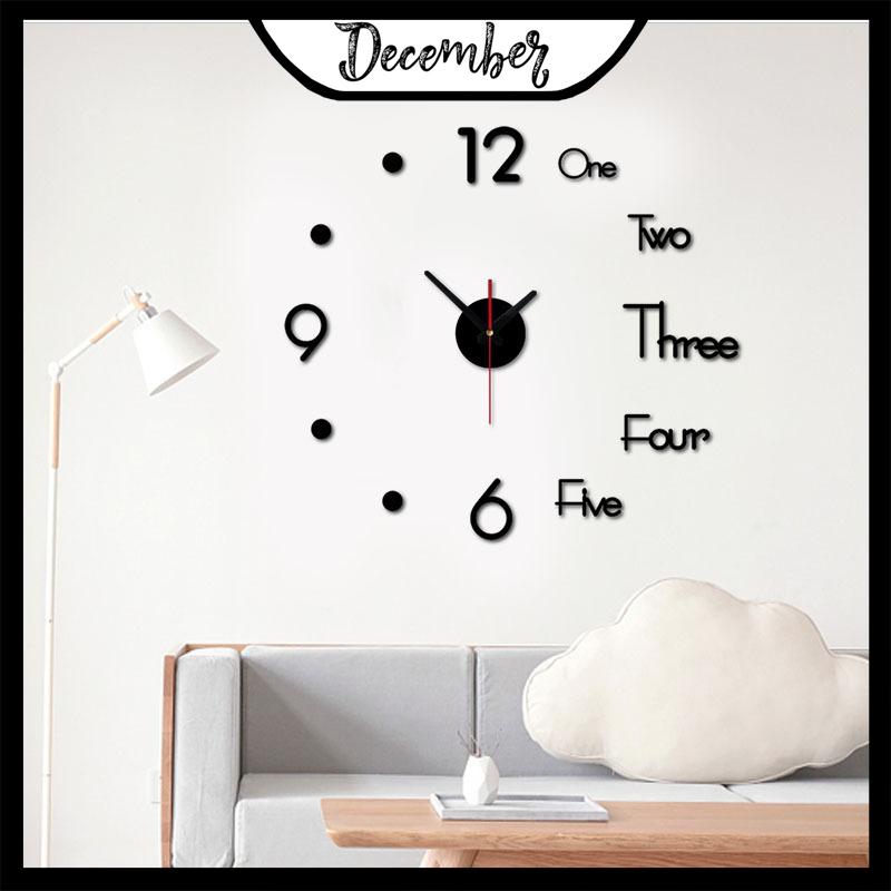 Đồng hồ treo tường, dán tường thiết kế 3D sang trọng kiểu Châu Âu DIY - Đồng hồ trang trí nghệ thuật - Thiết kế đơn giản độc đáo - Đảm bảo chất lượng