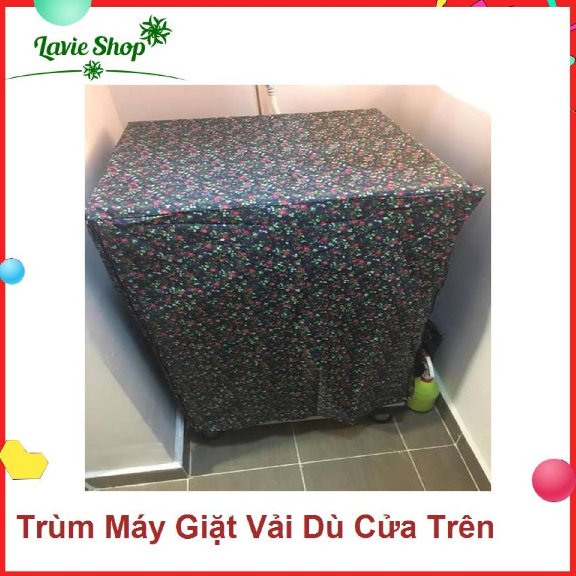 Áo trùm máy giặt - vải dù - từ 12-15kg - màu ngẫu nhiên