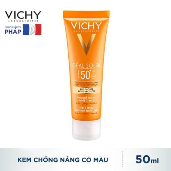 Kem Chống Nắng Ngăn Sạm Da Vichy Ideal Soleil 3-in-1 Tinted Anti Dark Spots Care SPF50+ 50ml