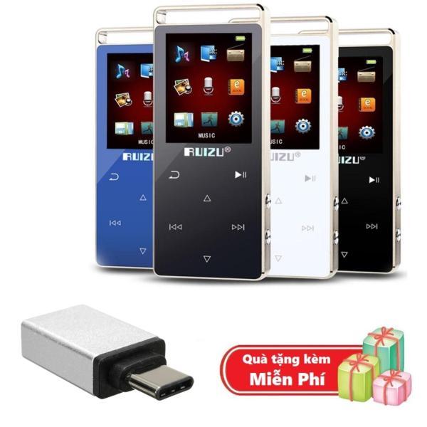 ( Quà tặng Đầu OTG cho điện thoại cổng Type C ) Máy nghe nhạc MP3 RUIZU D01 Bộ nhớ trong 8GB hỗ trợ thẻ nhớ tối đa 128GB