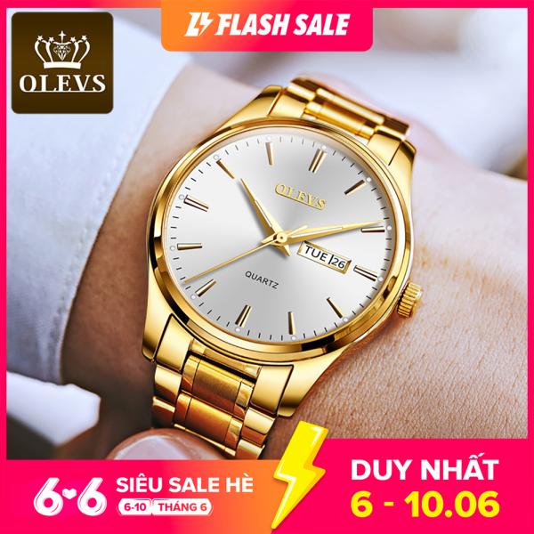 Đồng hồ nam sang trọng chất liệu thép không gỉ thạch anh chống nước OLEVS bán chạy