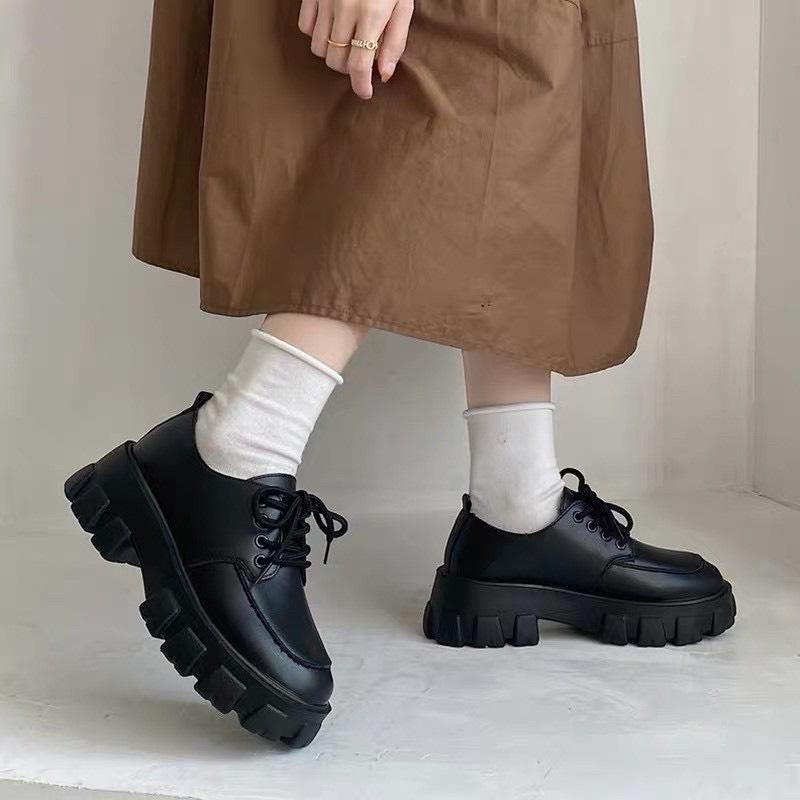 giày bốt nữ cổ thấp hottren
