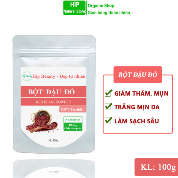 Bột đậu đỏ đắp mặt, bột đậu đỏ tắm trắng dưỡng da tự nhiên 100g nhập khẩu