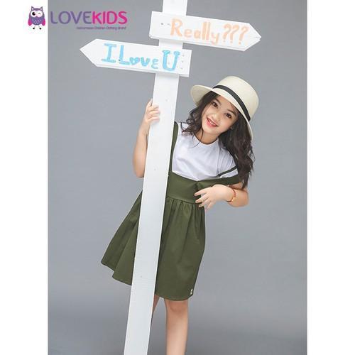 Giá bán Set áo,váy yếm BG LoveKids – xanh bộ đội