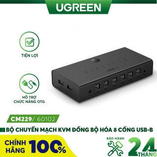 Bộ chuyển mạch KVM đồng bộ hóa 8 cổng USB-B, 1 bộ điều khiển chuột và bàn phím điều khiển 8 màn hình máy tính UGREEN CM229 60102