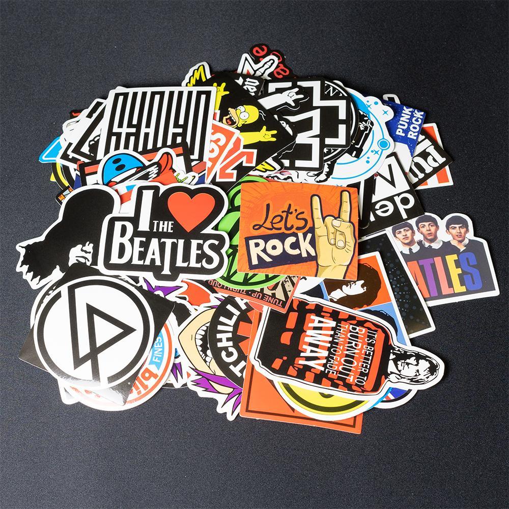 [HCM]Bộ 50 miếng dán sticker trang trí Vali Laptop Mũ Bảo Hiểm Xe Máy Xe Đạp