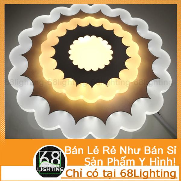 Bảng giá Đèn ốp tường trang trí giá rẻ chất liệu acrylic 3 chế độ sáng hình hoa cao cấp 68lighting LP0301 (3 Chế Độ Màu)