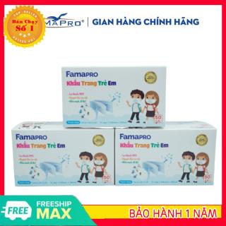 [HÀNG XỊN- GIẢM THÊM 8%] Khẩu trang y tế trẻ em kháng khuẩn 3 lớp Famapro max kid ( 50 cái hộp ) thumbnail