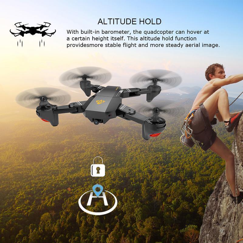 Flycam giá rẻ, Máy Bay Điều Khiển Camera, Flycam Visuo Xs809Hw, Chất Lương 720, Camera Hd Truyền Hình Trực Tiếp, Tích Hợp Chế Độ Không Đầu Đuôi, Nhào Lộn 360 Độ, Tự Động Quay Về, Bảo Hành Lâu Dài