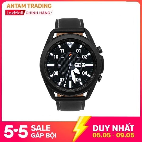 Đồng Hồ Thông Minh Samsung Galaxy Watch 3 Bluetooth (45mm) GPS - Viền Thép, Dây Da, Theo dõi sức khỏe, Đo nồng độ Oxy trong máu, SM-R840 - Hàng Chính Hãng - Bảo hành 12 Tháng