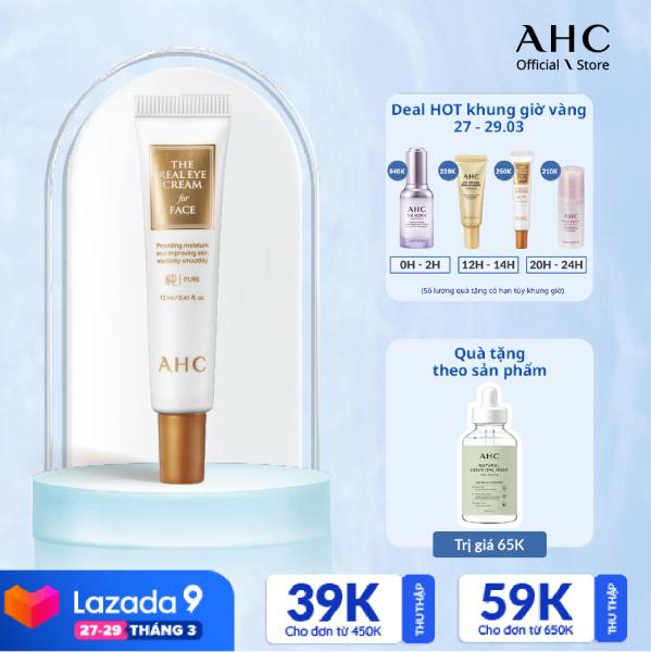 Kem Dưỡng Mắt và Mặt 2in1 AHC The Real Eye Cream For Face Pure (12ml) giá rẻ