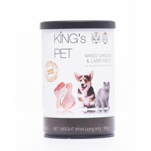[HCM]Pate King's Pet lon 380g thức ăn cho cún và mèo