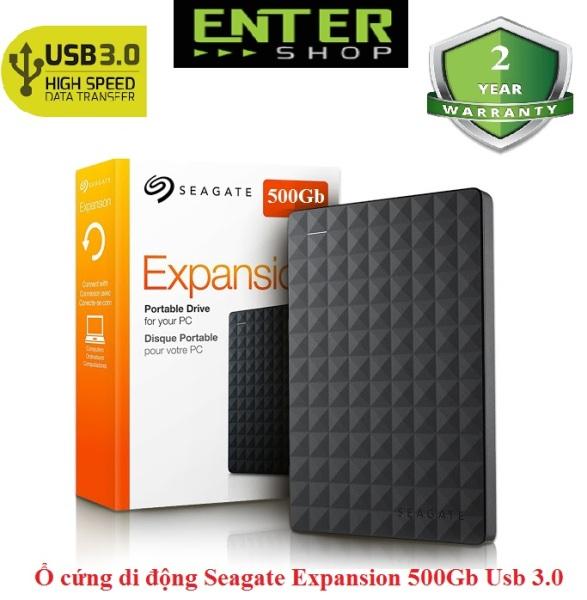 Bảng giá Ổ cứng di động Seagate Expansion 500Gb Usb 3.0 - Thiết kế vỏ nhựa cao cấp - Bảo hành 2 năm, 1 đổi 1 Phong Vũ