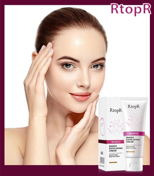 RtopR Kem Tẩy Tế Bào Chết Làm Sạch Dưỡng Trắng Da Mặt Chiết Xuất Mango Exfoliating Cream Moisturizing Skin Care