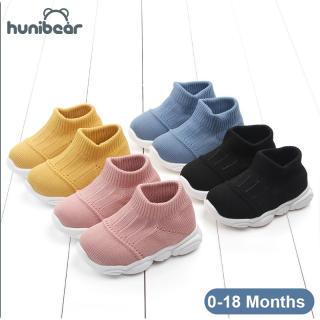 Baby Chàng Trai Cô Gái Giày Màu Tinh Khiết Bay Dệt Giày Thường Giày Thoáng Khí Giày Bé 0-18 Tháng