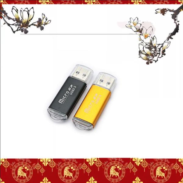 Bảng giá Đầu đọc thẻ nhớ USB 2.0 vỏ nhôm cao cấp có đèn tín hiệu Phong Vũ